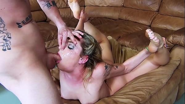 Hot Skinny Blonde 24-Minute Non-stop Face Fucking Extreme Throat Gagging & Sloppy Cum / Spit Drooling