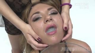 Premium Bukkake – Katy swallows 75 huge mouthful cumshots